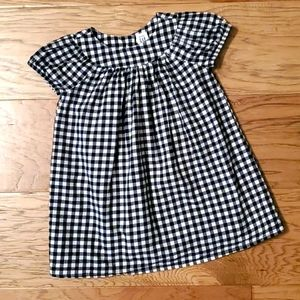 Navy Blue Gingham Dress Checked Summer